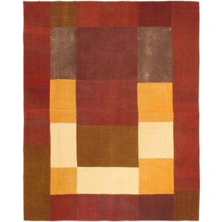 eCarpetGallery Bohemian Wool Handwoven Kilim Rug (6'7 x 8'2)