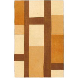 eCarpetGallery Brown Wool Handwoven Kilim Rug (3'3 x 5'3)
