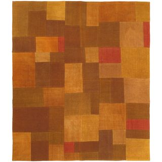 eCarpetGallery Abstract Hand-woven Multicolored Wool Rug (4'6 x 5'3)