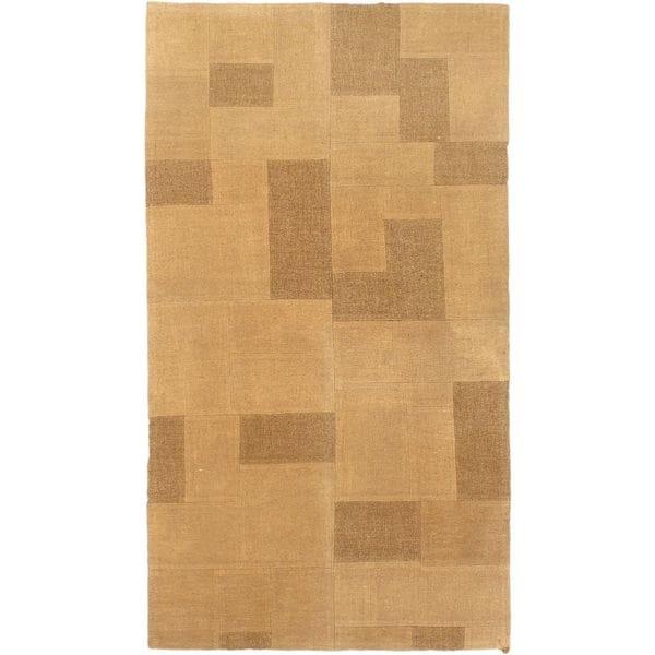 eCarpetGallery Ivory Wool Hand-woven Bohemian Kilim (3'3 x 5'10)