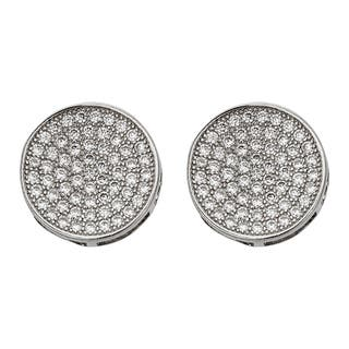 Decadence Sterling Silver Micropave Round Men's Stud Earrings|https://ak1.ostkcdn.com/images/products/11907643/P18800340.jpg?impolicy=medium