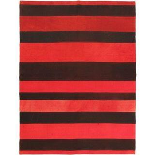 eCarpetGallery Wool Hand-woven Bohemian Kilim