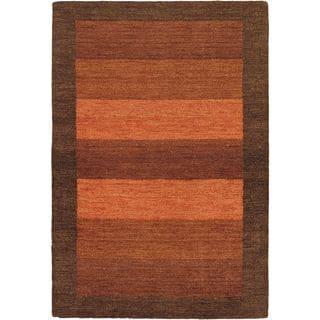 eCarpetGallery Luribaft Gabbeh Riz Hand-knotted Brown Wool Rug (4'0 x 6'0)