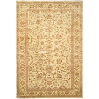 ecarpetgallery Hand-knotted Beige/Copper Wool Chobi Rug (11'6 x 17'2)