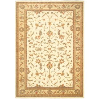 eCarpetGallery Traditional Oriental Beige Wool Hand-knotted Rug (12'2 x 17'5)
