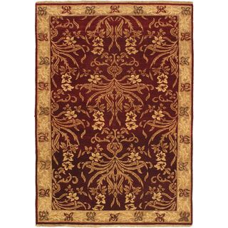 ecarpetgallery Jamshidpour Red Wool Hand-knotted Rug (4'0 x 5'8)