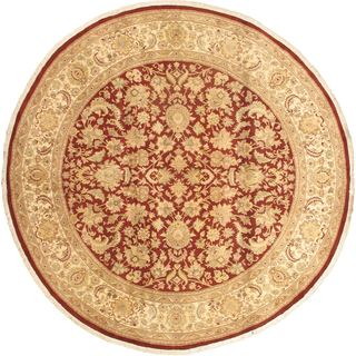 eCarpetGallery Pako Multicolor Wool/Cotton Persian Hand-knotted Round Rug (8'1)