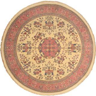 eCarpetGallery Yellow Hand-knotted Wool Sino Persian Rug (8'4 x 8'4)