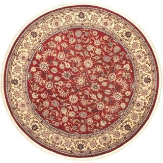 eCarpetGallery Sino Persian Mulitcolored Wool/Cotton Hand-knotted Rug (8'4 Round)