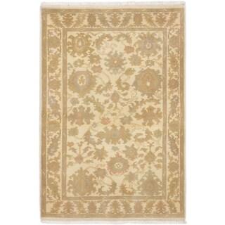 eCarpetGallery Peshwar Oushak Ivory Hand-knotted Wool Rug (4'0 x 5'10)