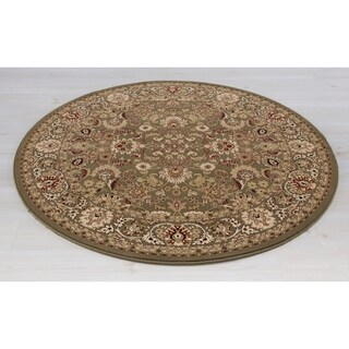 Machine-made Pristine Collection Malva Polypropylene Rug (5'3 Round)