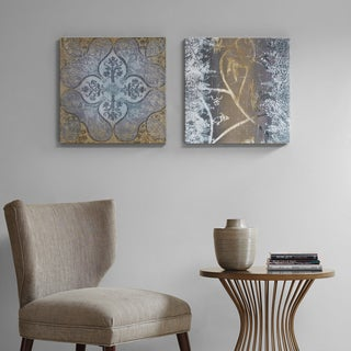 Madison Park Velvet Impressions Multi Glass Coated Canvas 2-Piece Set