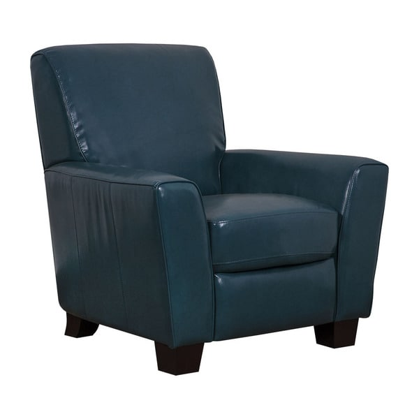 Mayfair Peacock Faux Leather Pushback Recliner Free