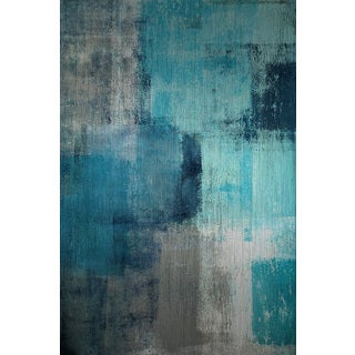 Marmont Hill 'Meditation in Blue II' Painting Print on Brushed Aluminum