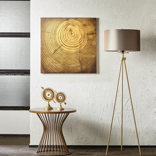 INK+IVY Wood Grain Bronze Metallic Canvas