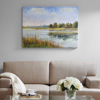 Madison Park Signature View In Bliss Multi Gel Coated Canvas