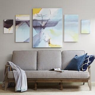 Madison Park Blue Skies Ahead Multi Printed Canvas With Gel Coat 5-Piece Set