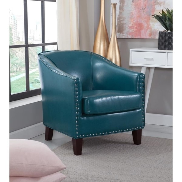 Giles Accent Chair with Nail Heads. Opens flyout.