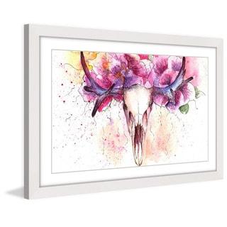 Marmont Hill 'Floral Antlers' Framed Art Print