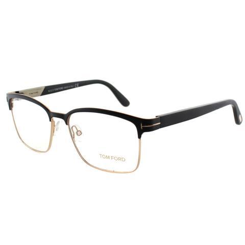 Tom Ford Men's FT 5323 002 Matte Black/Gold Metal 49-millimeter Square Eyeglasses