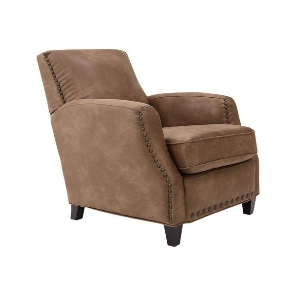 Sarah Light Brown Bonded Leather Club Chair