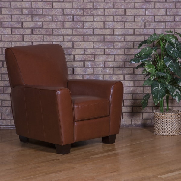 Shop Nala Brown Bonded Leather Pushback Recliner Free