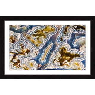 Marmont Hill 'Blue and Gold' Framed Art Print