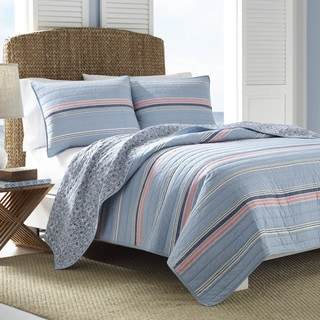 Nautica Vessey Cotton Pieced Quilt And Sham Separates