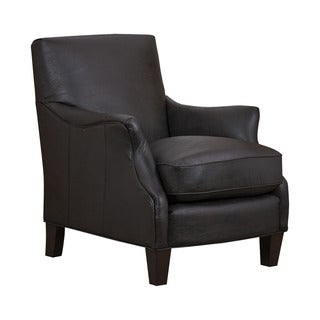 San Lorenzo Espresso Faux-leather Club Chair