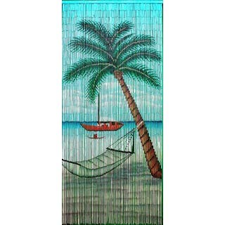 Handmade Hammock Beach Scene Curtain (Vietnam)|https://ak1.ostkcdn.com/images/products/11908051/P18800729.jpg?impolicy=medium