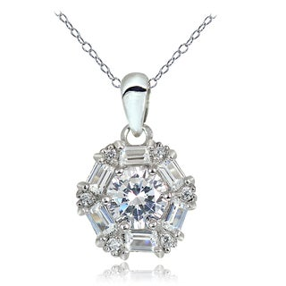 Icz Stonez 2 1/6ct Cubic Zirconia Baguette-cut Necklace
