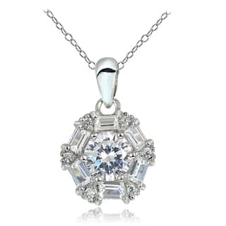Icz Stonez 2 1/6ct Cubic Zirconia Baguette-cut Necklace|https://ak1.ostkcdn.com/images/products/11908065/P18800756.jpg?impolicy=medium
