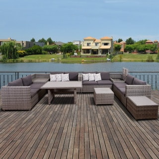 Atlantic Freeport 7 Piece Grey Patio Sectional Set