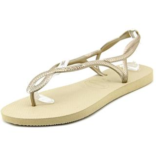 Havaianas Women's Luna Gold Synthetic Sandals