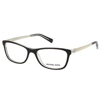 Michael Kors Nevis Womens MK 4017 3033 Black On Crystal Rectangle Plastic 55mm Eyeglasses