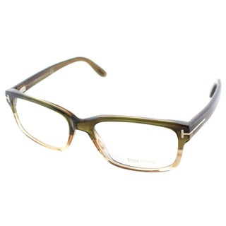 Tom Ford Men's FT 5313 098 Green Ombre Plastic Rectangle Eyeglasses