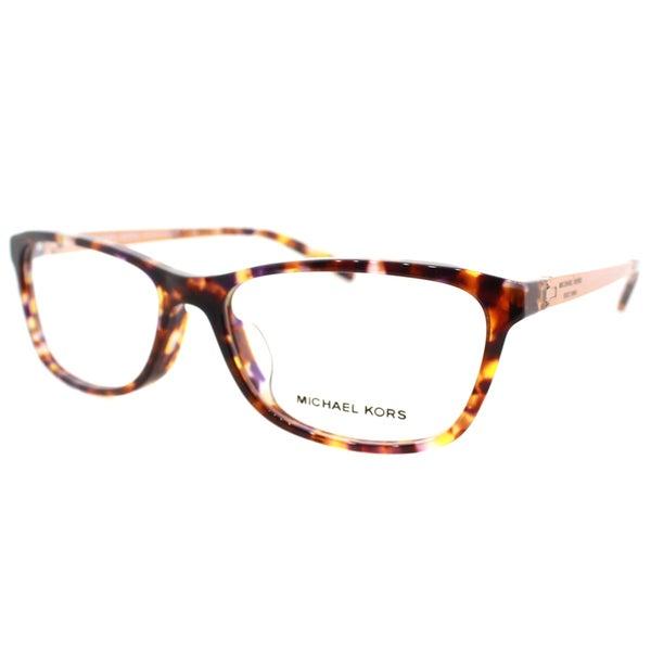 ea3d4ed8d57f Michael Kors Nevis Womens MK 4017F 3032 Sunset Confetti Tortoise Rectangle  Plastic 55mm Eyeglasses