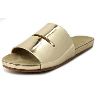 Splendid Women's 'Telluride' Gold Leather Low Heel Slide Sandals