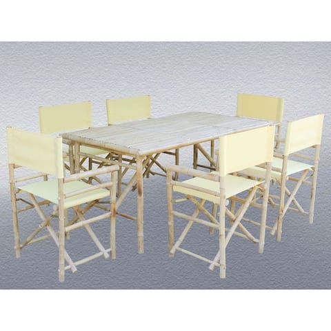 Set of 6 Director Chairs and Rectangular Table Dining