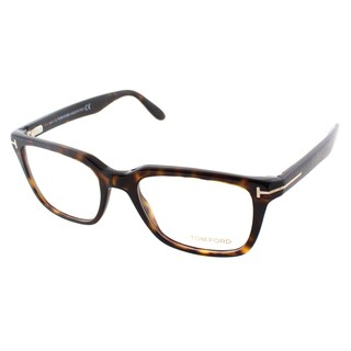 Tom Ford Men's Dark Havana Plastic Square Eyeglasses