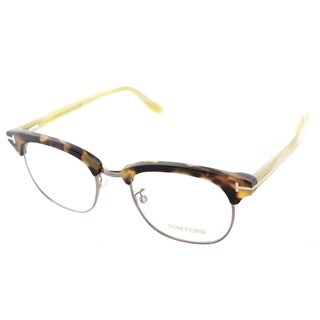Tom Ford Unisex FT 5342 052 Dark Havana and Gunmetal 49-millimeter Eyeglasses