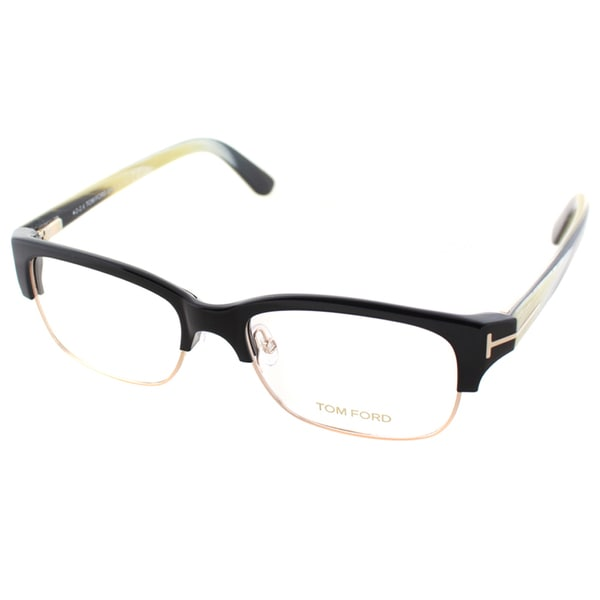 ed03dad0d23 Shop Tom Ford Men s Black and Gold Plastic Square Eyeglasses - Free Shipping  Today - Overstock - 11908182