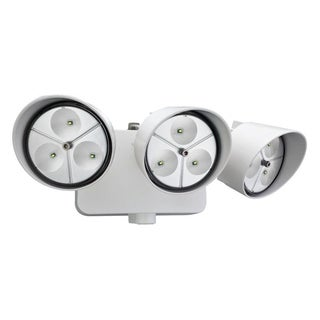 Lithonia Lighting OFLR 9LN 120 P WH M2 LED Outdoor 3-light White Floodlight with Dusk to Dawn Photocell