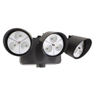 Lithonia Lighting OFLR 9LN 120 P BZ LED Outdoor 3-light Black Bronze Floodlight with Dusk to Dawn Photocell