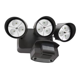 Lithonia Lighting OFLR 9LN 120 MO BZ M2 LED Outdoor 3-light Black Bronze Floodlight with Motion Sensor