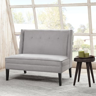 Madison Park Brinley Button Tufted High Back Settee