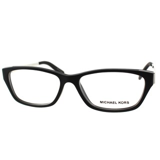 Michael Kors Paramaribo Womens MK 8009 3022 Black Soft Touch Plastic Rectangle 53mm Eyeglasses