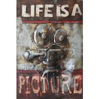 Benjamin Parker 'Life is a Picture' 31 x 47-inch Raised Metal Wall Art