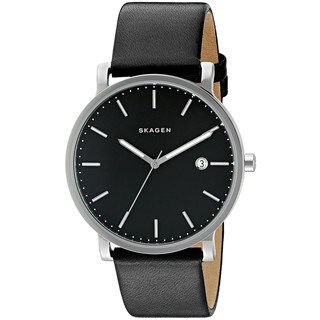 Skagen Men's SKW6294 'Hagen' Black Leather Watch