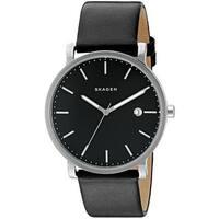 Skagen Men's SKW6294 'Hagen' Black Leather Watch